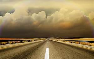 Hd, Clouds, Landscapes, Highway, Roads, Free, Desktop, Background, Wallpaper