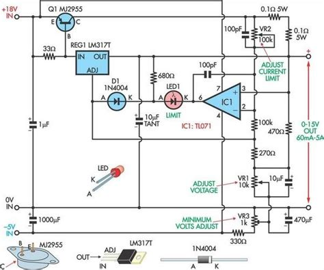fully adjustable power supply  repository circuits
