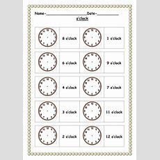 O'clock Worksheets By Ruthbentham  Teaching Resources Tes
