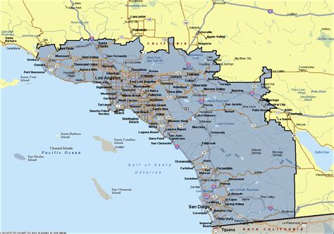 southern california county map  cities pictures  pin
