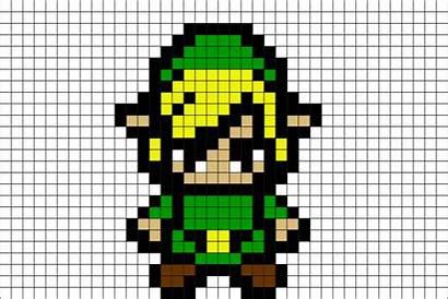 Zelda Pixel Link Dessin Grid Hama Minecraft