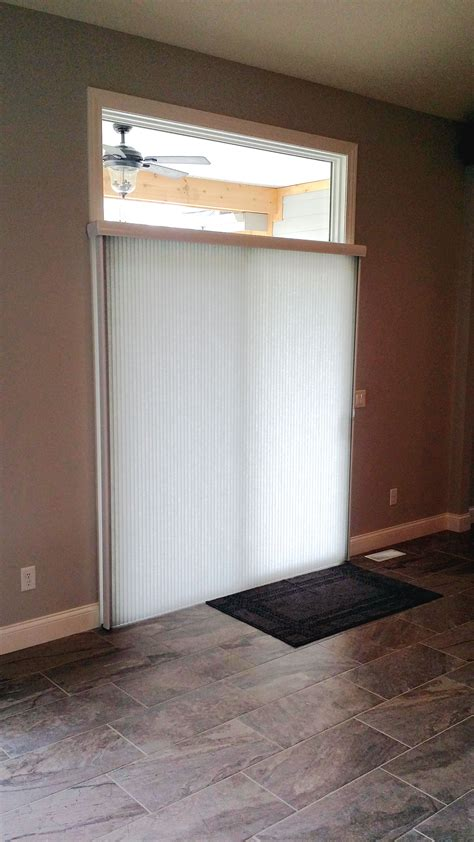 vertical cellular shade   sliding glass door