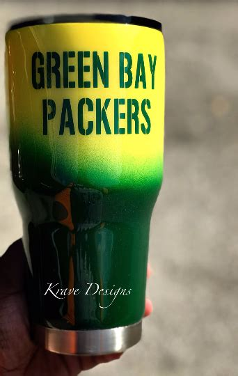 green bay packers stainless steel tumbler  storenvy
