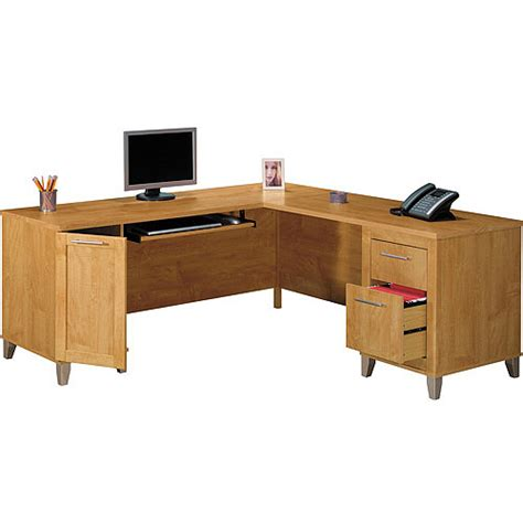 bush somerset desk assembly bush somerset 71 quot l shaped desk maple cross walmart