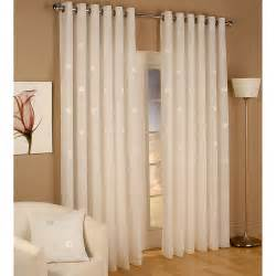 Rideaux Deco by Miami Lined Voile Eyelet Curtains Cream