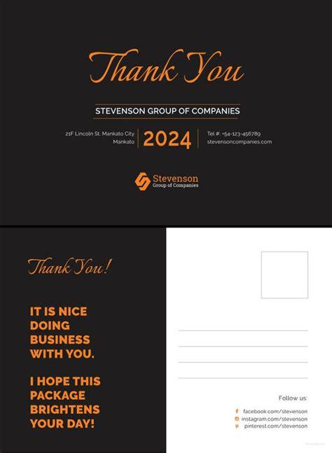 postcard templates  sample