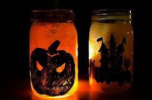 Diy, Halloween, Mason, Jar, Lanterns