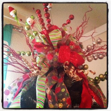christmas tree bow topper christmas for home pinterest