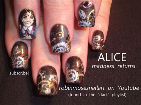 Nail Art By Robin Moses Alice Madness Returns Alice