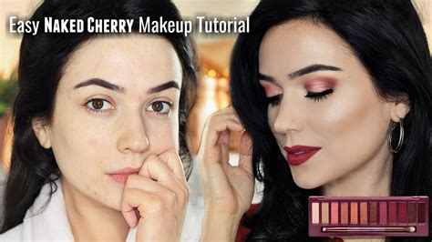 soft day makeup tutorial urban decay cherry eyeshadow