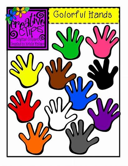 Clipart Creative Hands Clips Clip Colorful Paste