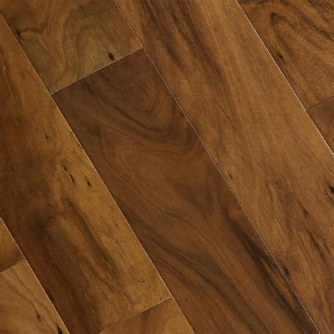 scraped acacia home legend hand scraped natural acacia 3 8 in t x 4 3 4 in w x varying length click lock wood