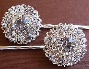 Wedding Hair Pins Bridal Accessories Silver And Crystal
