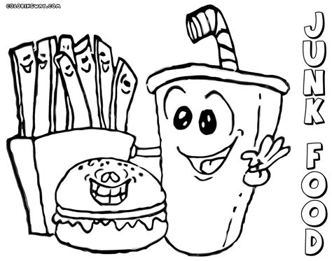 cuisine color deitaled fast food coloring pages deitaled best free