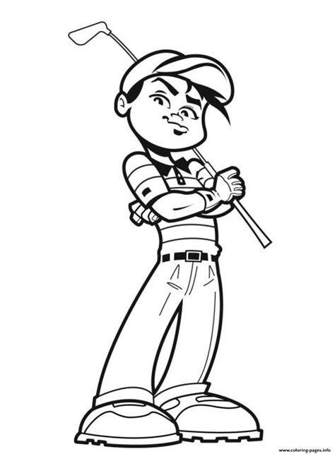 awesome golfer sports sbda coloring pages printable