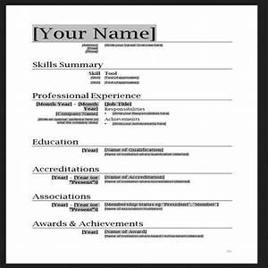 5 Simple resume template Microsoft word