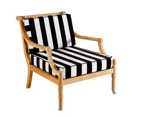 portofino outdoor teak occasional chair  cushions