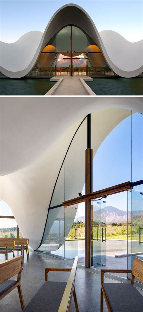 The Sculptural Design Of This Chapel Emulates The