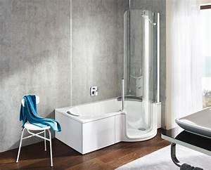 baignoire a porte twinline 1 artweger douche modul39eau With baignoire douche à porte