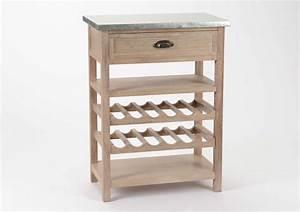 Meuble Range Bouteille : billot de cuisine en bois avec range bouteilles ~ Teatrodelosmanantiales.com Idées de Décoration