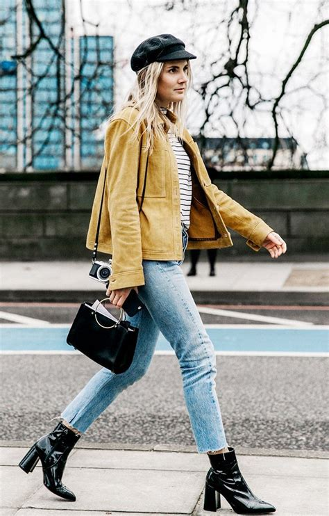 favorite  ways  wear ankle boots  skinny jeans   fashion style street style