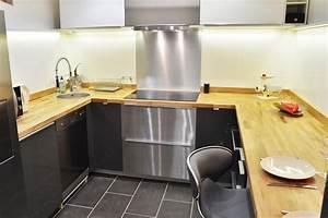 renovation de cuisine en u avec plans de travail en chene With renovation cuisine en chene