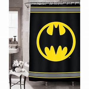 amazoncom batman bathroom set shower curtain hooks With batman bathroom stuff