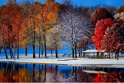 Snow Winter Late Autumn Trees Park Wallpapers