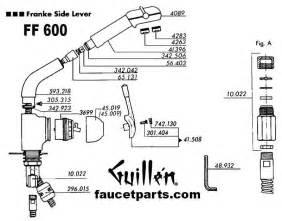 parts of a kitchen faucet franke faucet parts