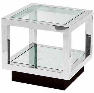 Hotel end tables hotel end table hotel side tables for Glass cube coffee table