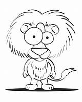 Coloring Pages Crazy Printable Lion Eyed Animal Cartoon Clipart Cartoons Critters Colouring Printables Library Sheknows Letters Santa Templates Clip Face sketch template
