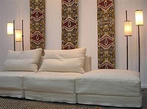 le style ethnique chic on vous explique elle decoration With tapis ethnique avec ampm canape lit