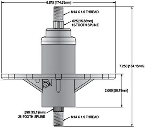 Murray Mower Deck Spindle by Replacement Spindle For Murray 42 Quot 46 Quot 52 Quot Deck Spindle