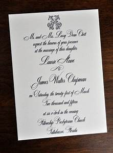 Wedding invitations traditional wiregrass weddings for Traditional addressing wedding invitations