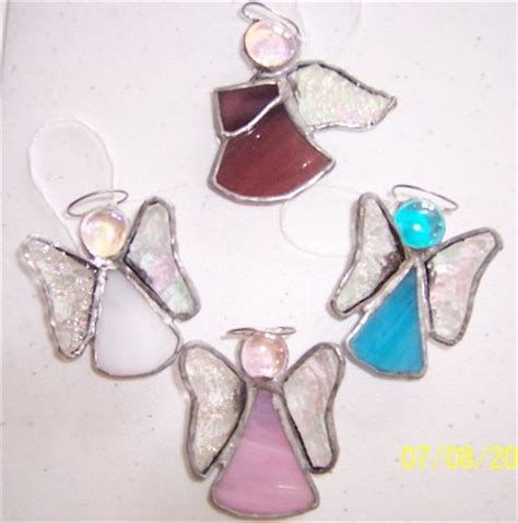 angel ornaments glass wings stained glass designs in