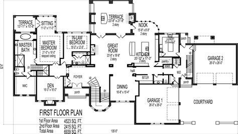 bedroom house plans blueprints luxury  bedroom house