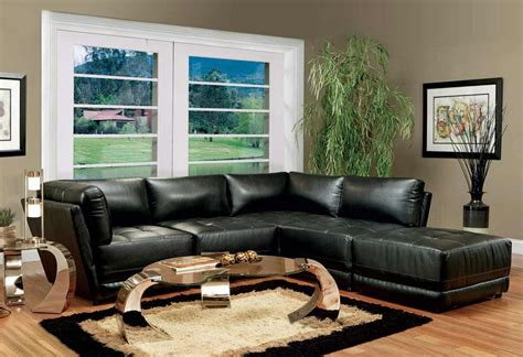living room decor with leather sofa living room decorating ideas with black leather furniture