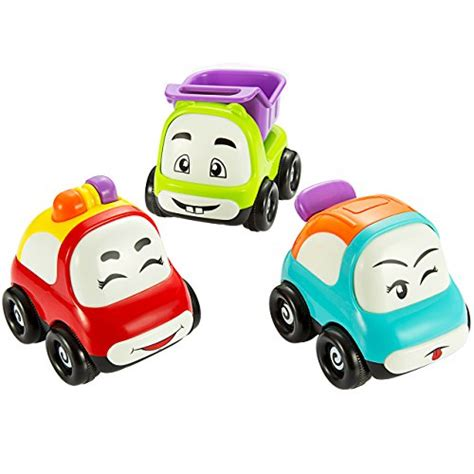 car toy pictek cars toy set of 3 play vehicles push and go