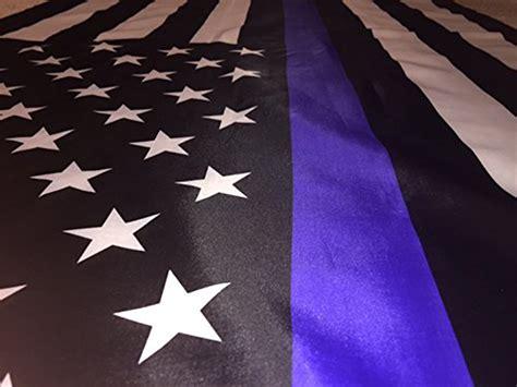 3x5 Usa Thin Blue Line American Police Flag Printing Stars