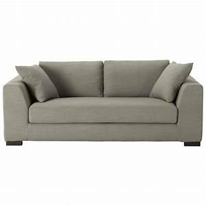 Sofa 4 Sitzer Stoff : sofa 2 3 sitzer aus stoff grau terence maisons du monde ~ Bigdaddyawards.com Haus und Dekorationen