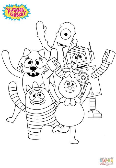yo gabba gabba coloring page  printable coloring pages