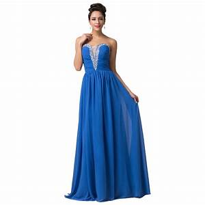 grace karin stock elegant chiffon royal blue cheap With formal dresses for weddings