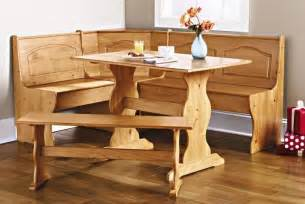details about corner furniture table bench dining set breakfast kitchen nook solid pine wood