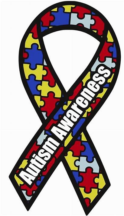 Awareness Autism Ribbon Vector Month Clipart Autistic