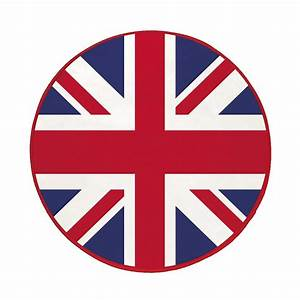 tapis rond velours diamètre 90 cm london londres union flag drapeau anglais