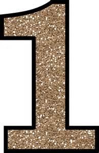 Printable Number 1 Glitter