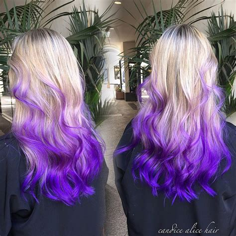 Blonde To Purple Ombre Pravana Hair Dye Hair Colors Ideas
