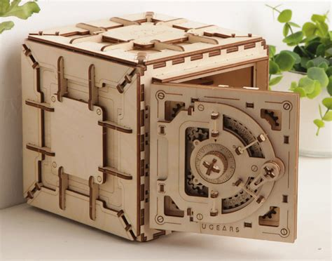 ugears wooden safe kit  awesomer