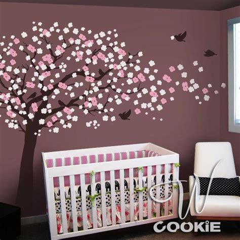 Wandtattoo Kinderzimmer Etsy by Kirschbl 252 Te Baum Wand Aufkleber Kinderzimmer Wcookie
