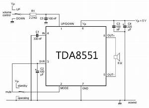 Mini Amplifier With Digital Volume Control Schematics